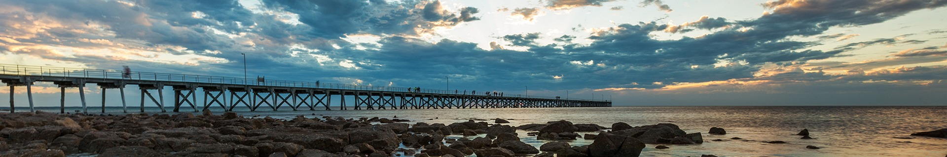 Sunset at the Port Hughes Jetty on Yorke Peninsula in South Australia Australia on 22nd February 2018